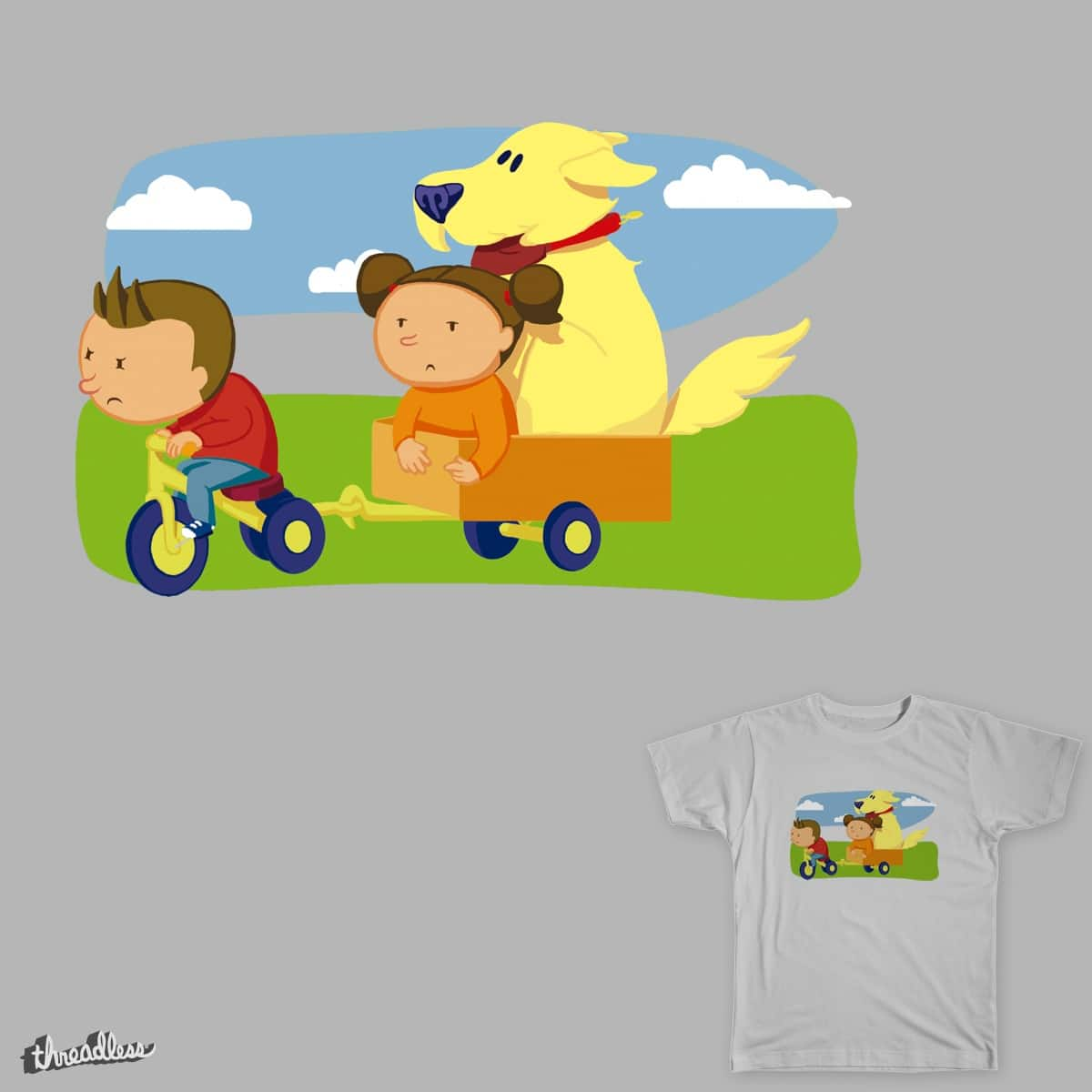 dog on wheels by RSurroca on Threadless