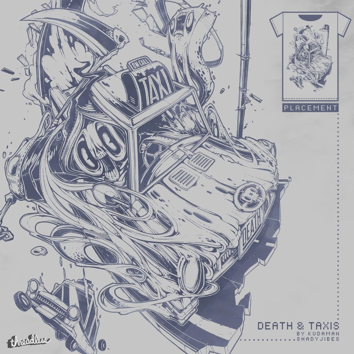 Death and Taxis by Kudaman and Shadyjibes on Threadless