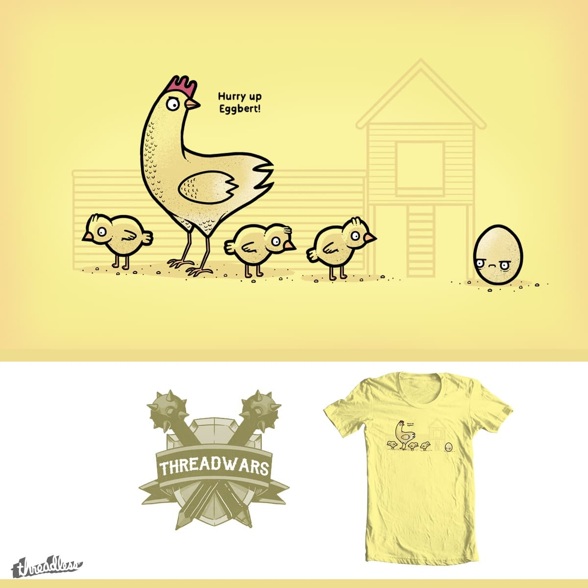 Hurry up! by randyotter3000 on Threadless