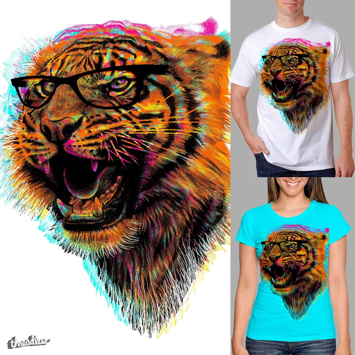 Cool Tiger by clingcling on Threadless