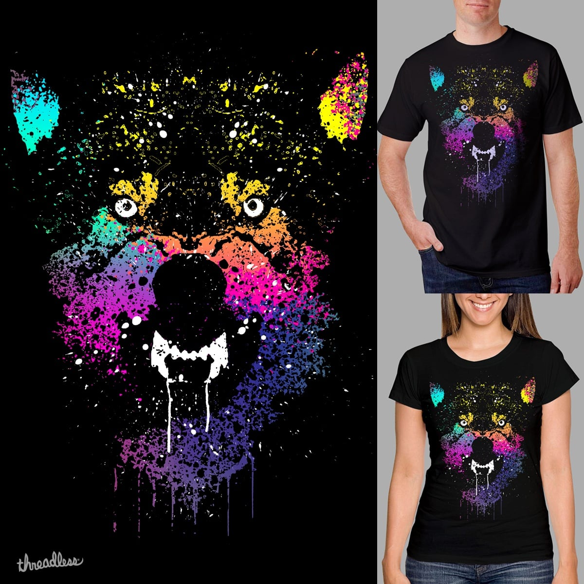 Drip Wolves by clingcling on Threadless