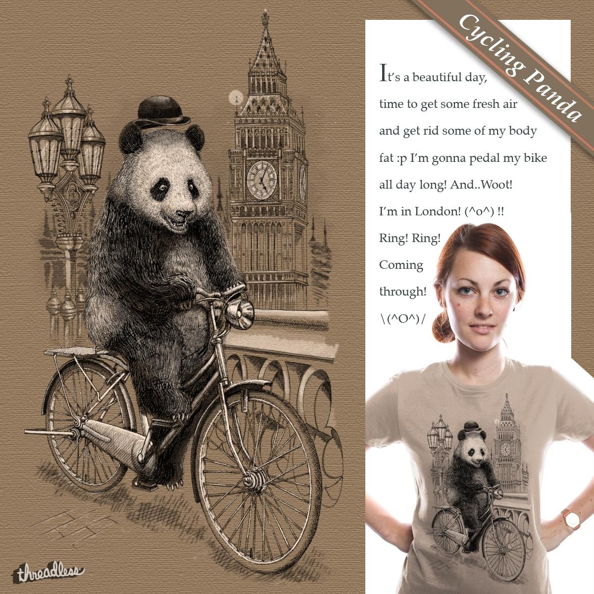 Cycling Panda by Winardi on Threadless