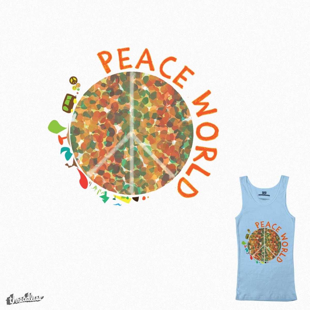 Peace World by faridfadila on Threadless