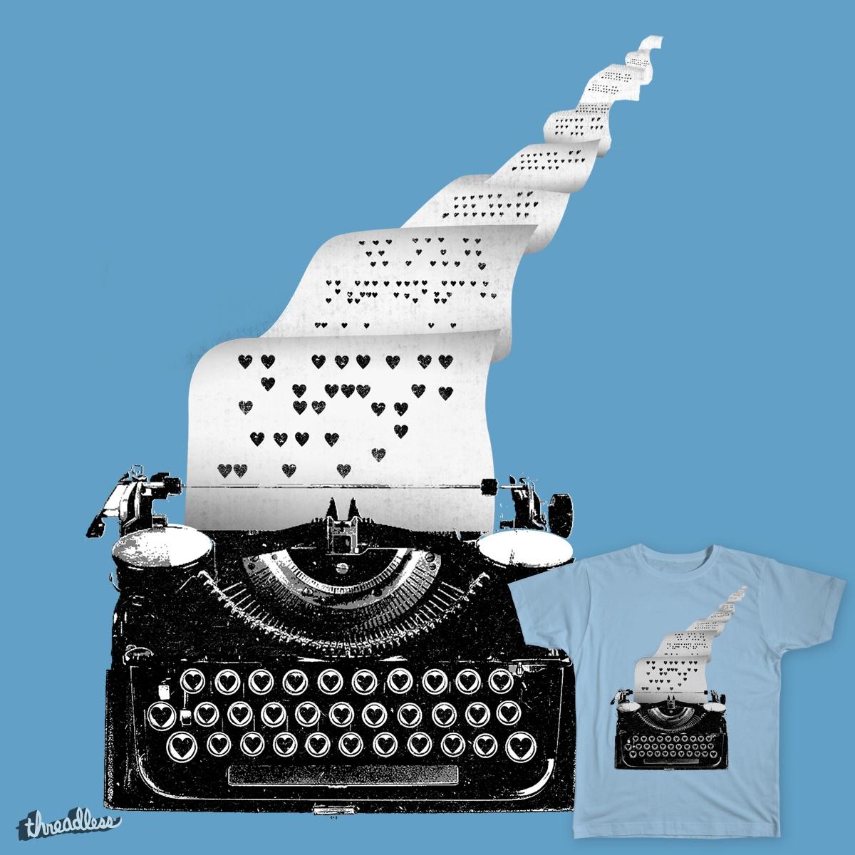 Love Typewriter by lautstarke on Threadless