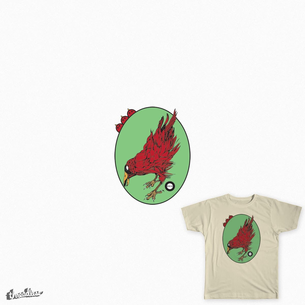 Red Raven by tarahudsonredart on Threadless