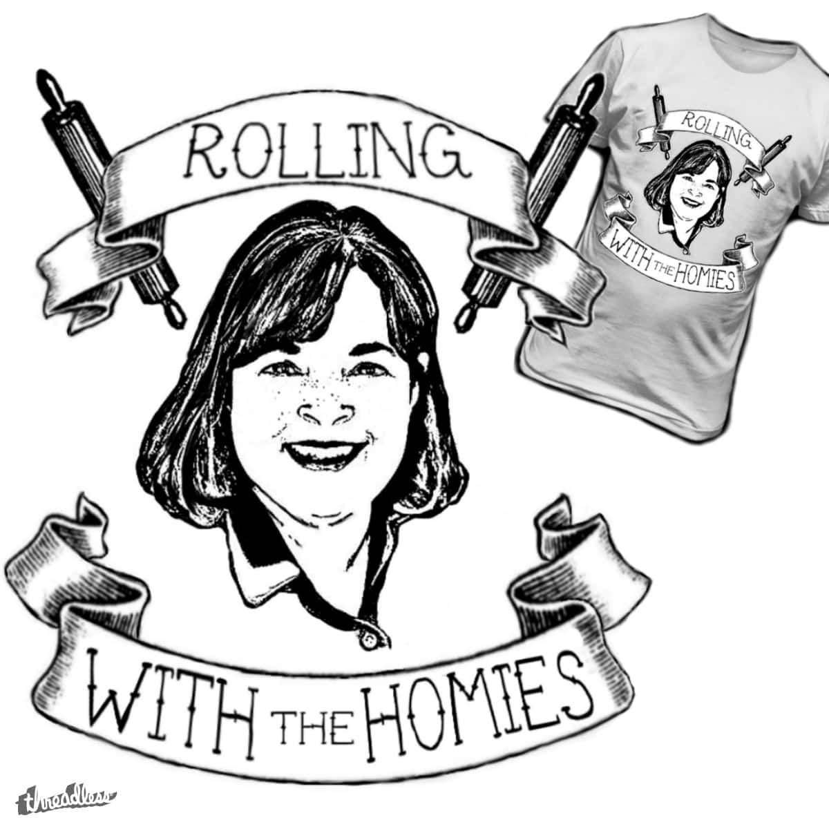 rolling with the homies by tabey on Threadless