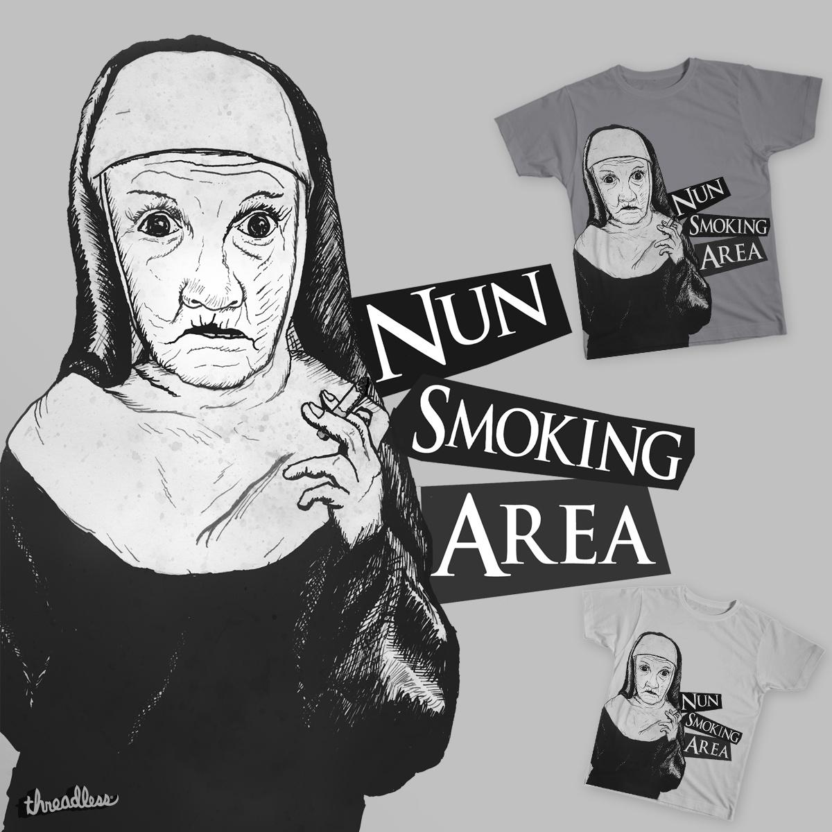 Nun Smoking Area by Kitchendutch on Threadless