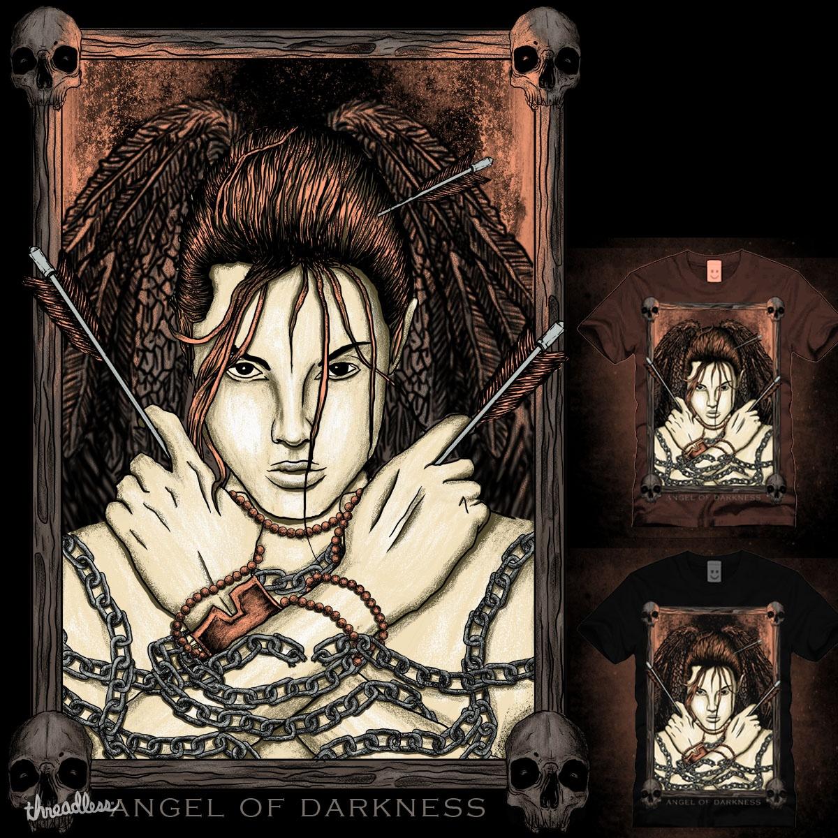 angel of darkness by gupikus on Threadless
