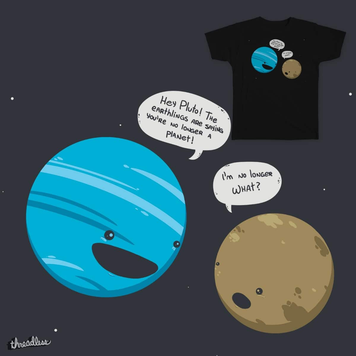 Pluto Getting the News by spookylili on Threadless