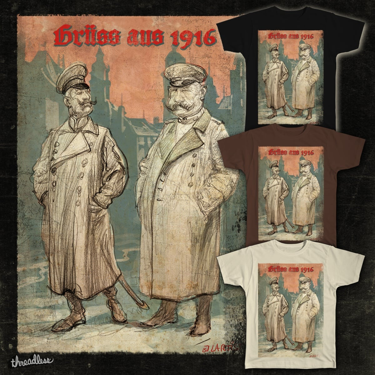 Greetings from 1916 by Laertist on Threadless