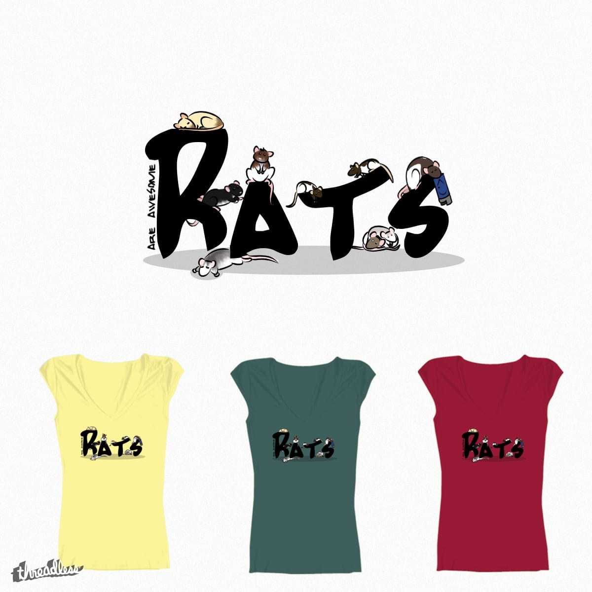 (Pet)Rats are awesome by Kipke on Threadless