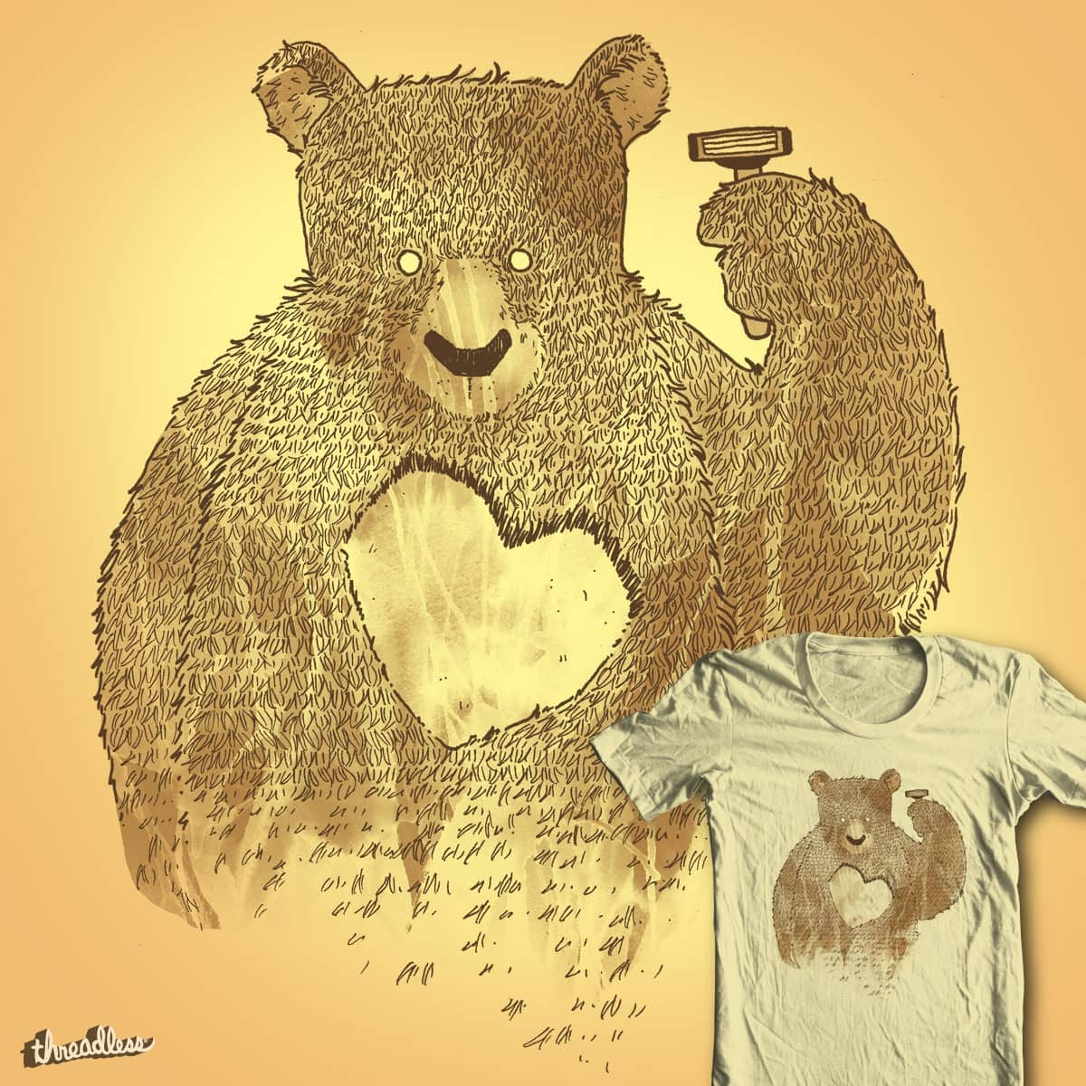 I'd Shave for you by tobiasfonseca on Threadless