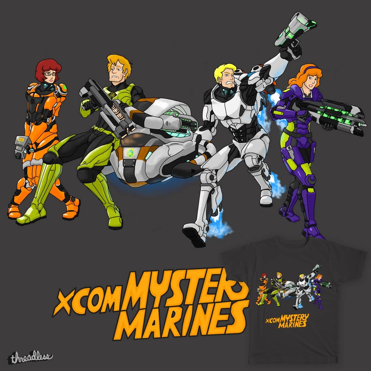 X-COM's Mystery Gang by Amazinglagann on Threadless