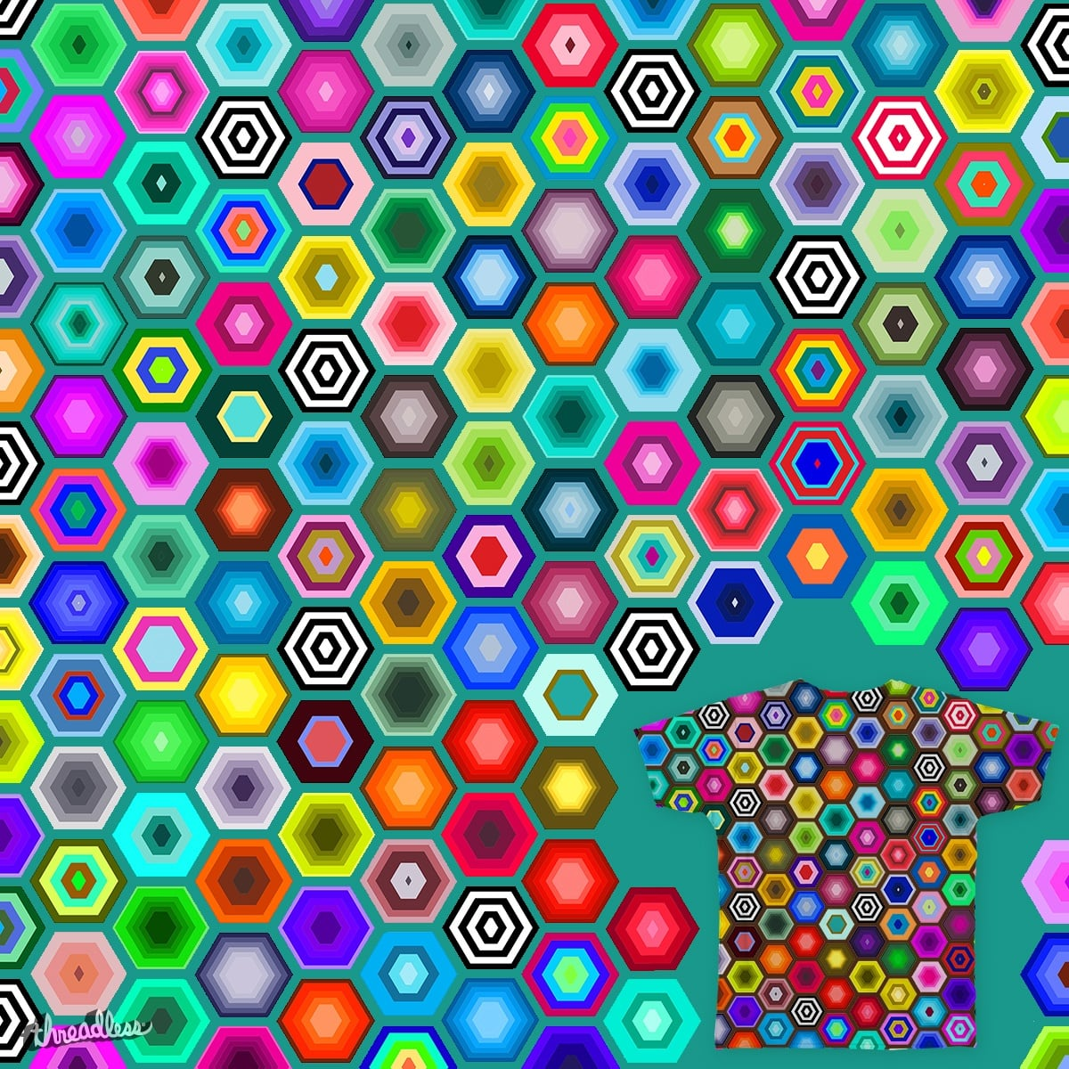 Hexa-Gone by bobogalvan on Threadless