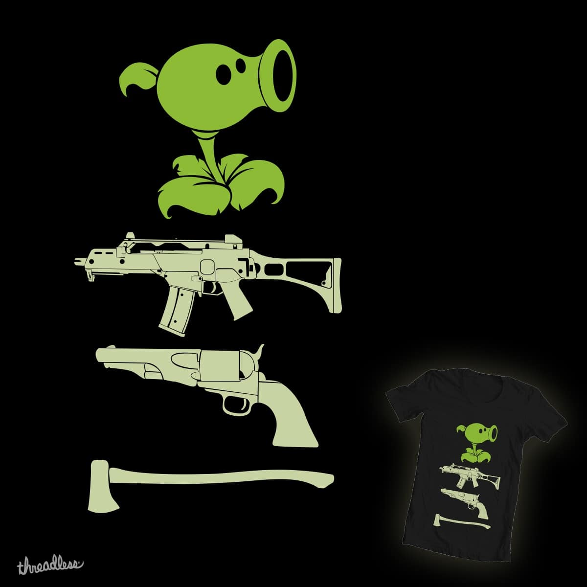 which one would you use to fight zombies by hadee on Threadless