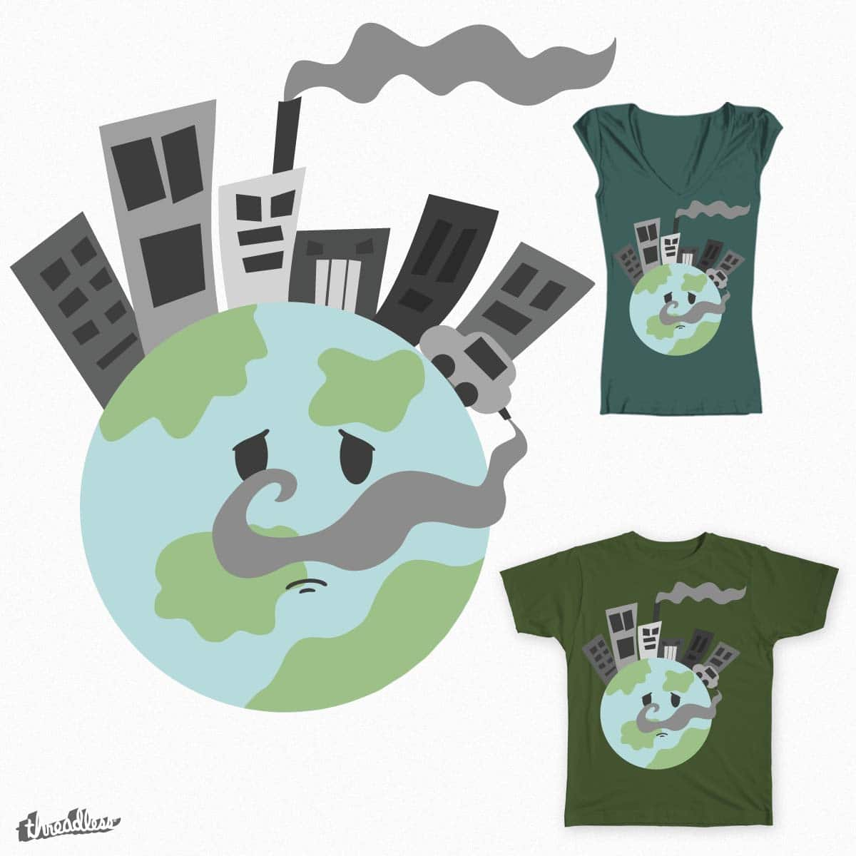 Pollution's not the solution! by AnarkozArtCollective on Threadless