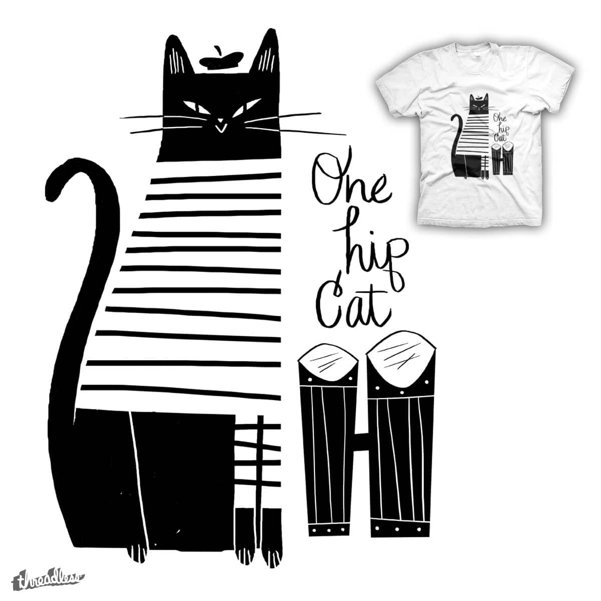 Hip Cat by zackOlantern on Threadless