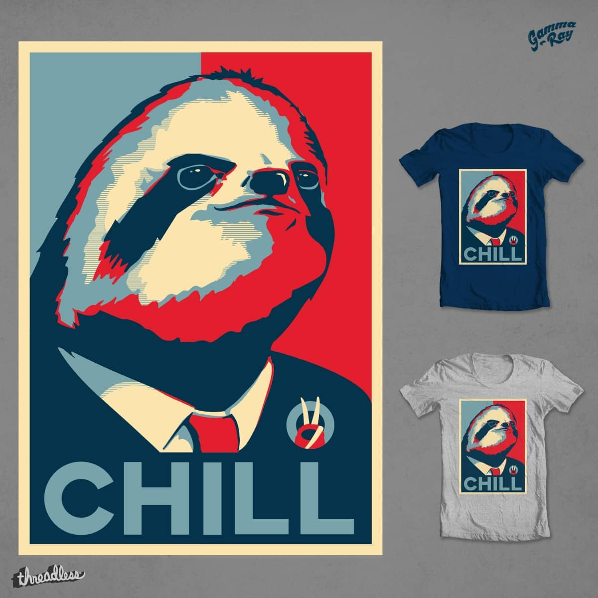 VOTE SLOTH by Gamma-Ray on Threadless