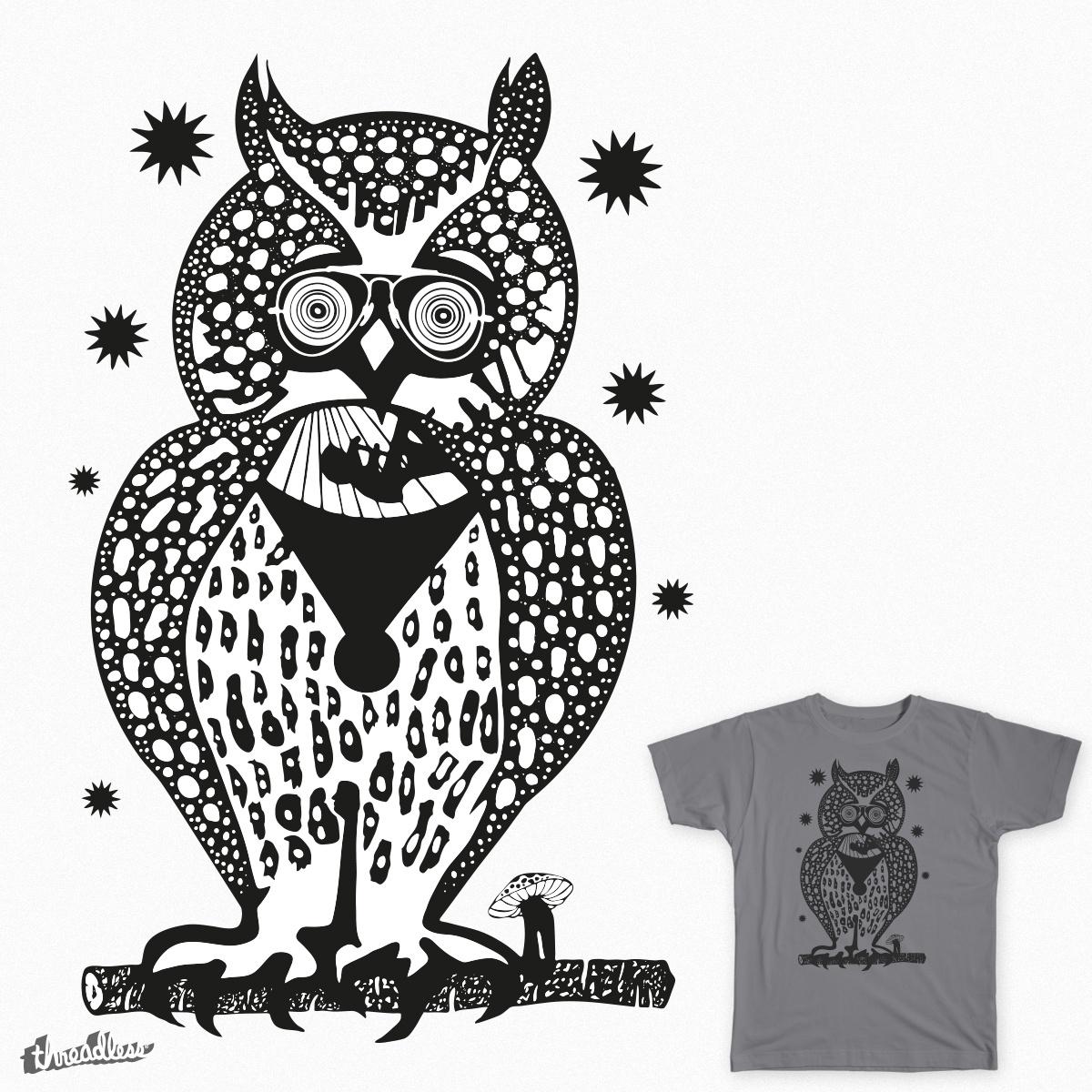 Owl by antoninopilloni on Threadless