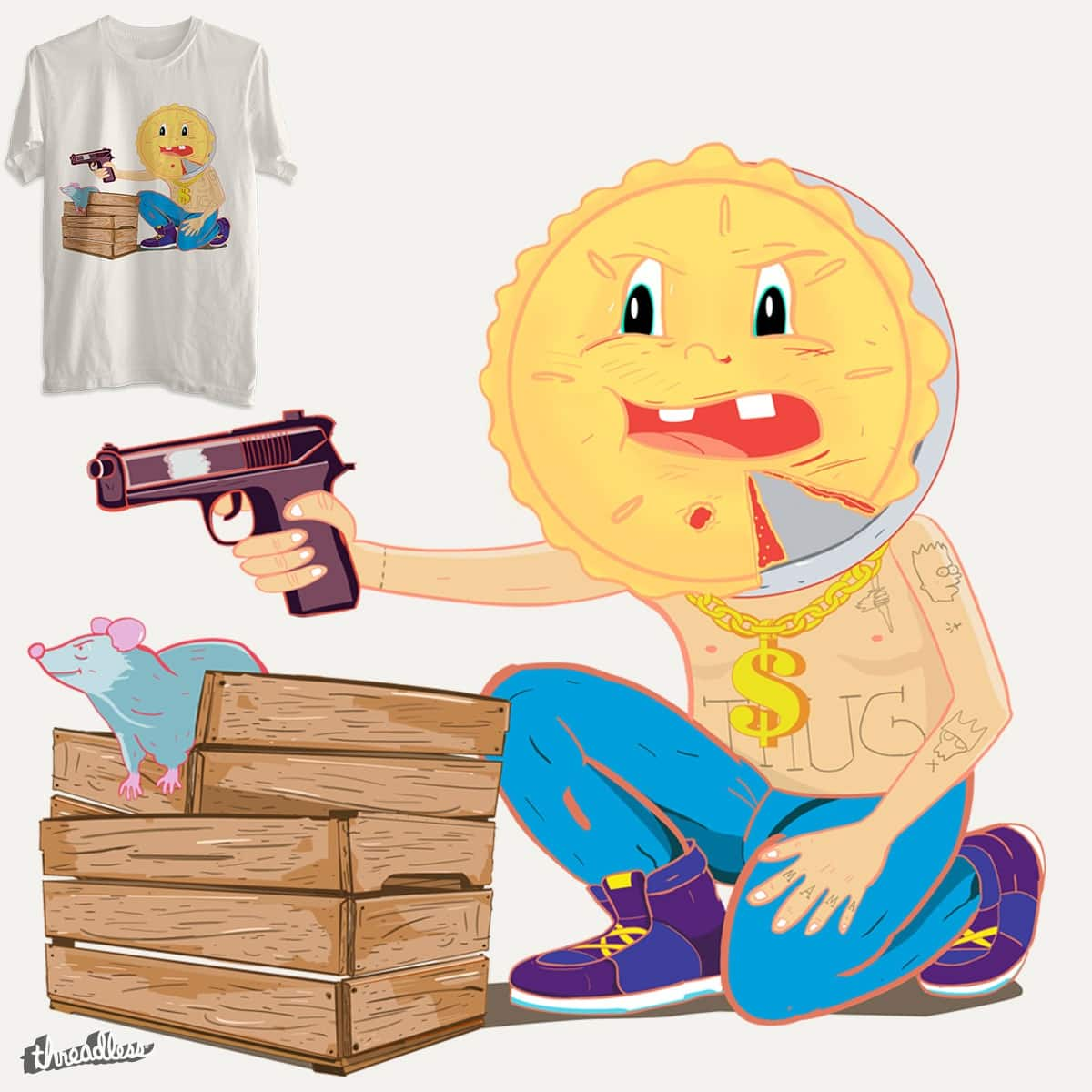 Gangsta Pie by arpaci on Threadless