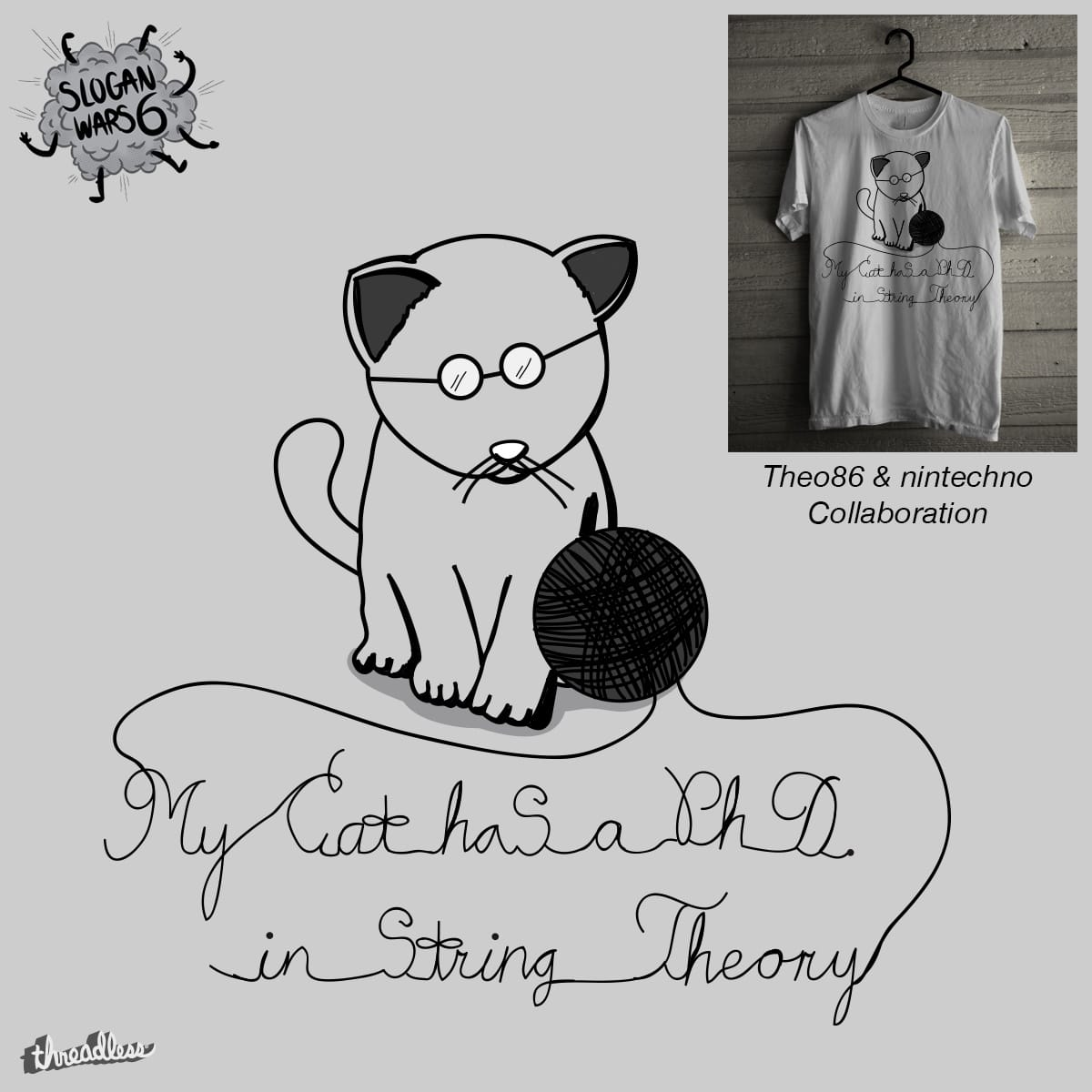 My Cat has a PhD. in String Theory by Theo86 and nintechno on Threadless