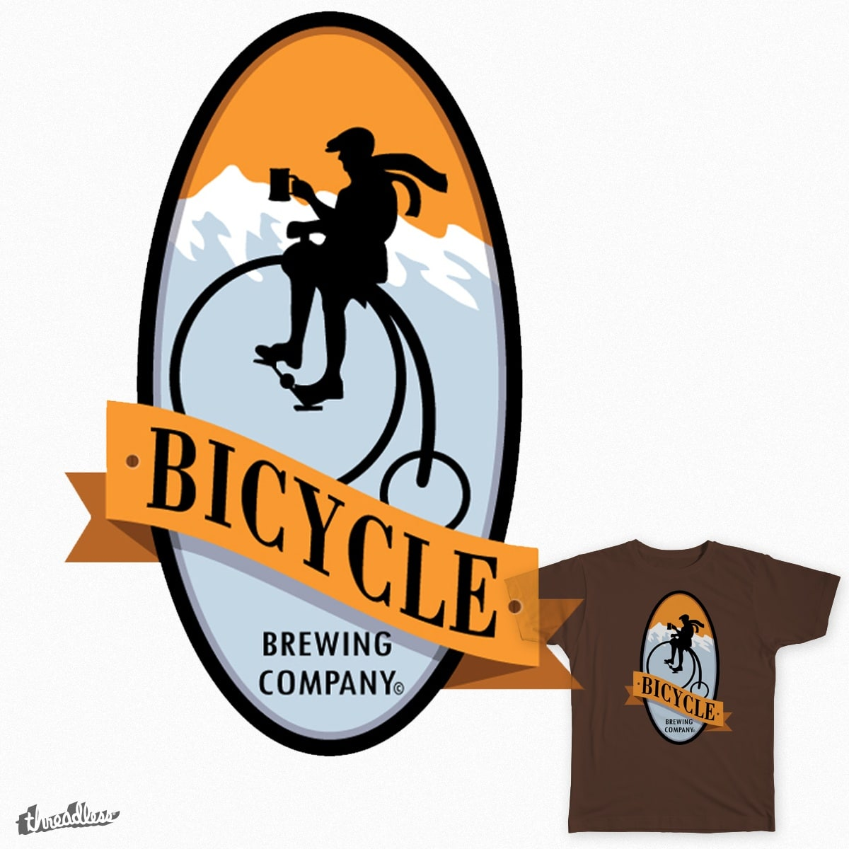 Bicycle Brewing by JeffWhitehead on Threadless