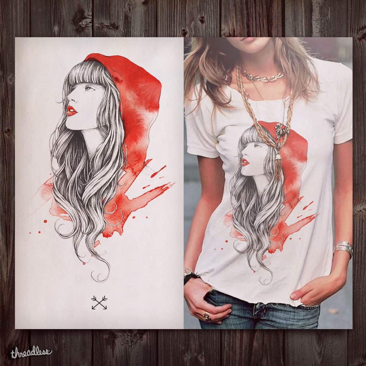 The Red Story by INDZ on Threadless