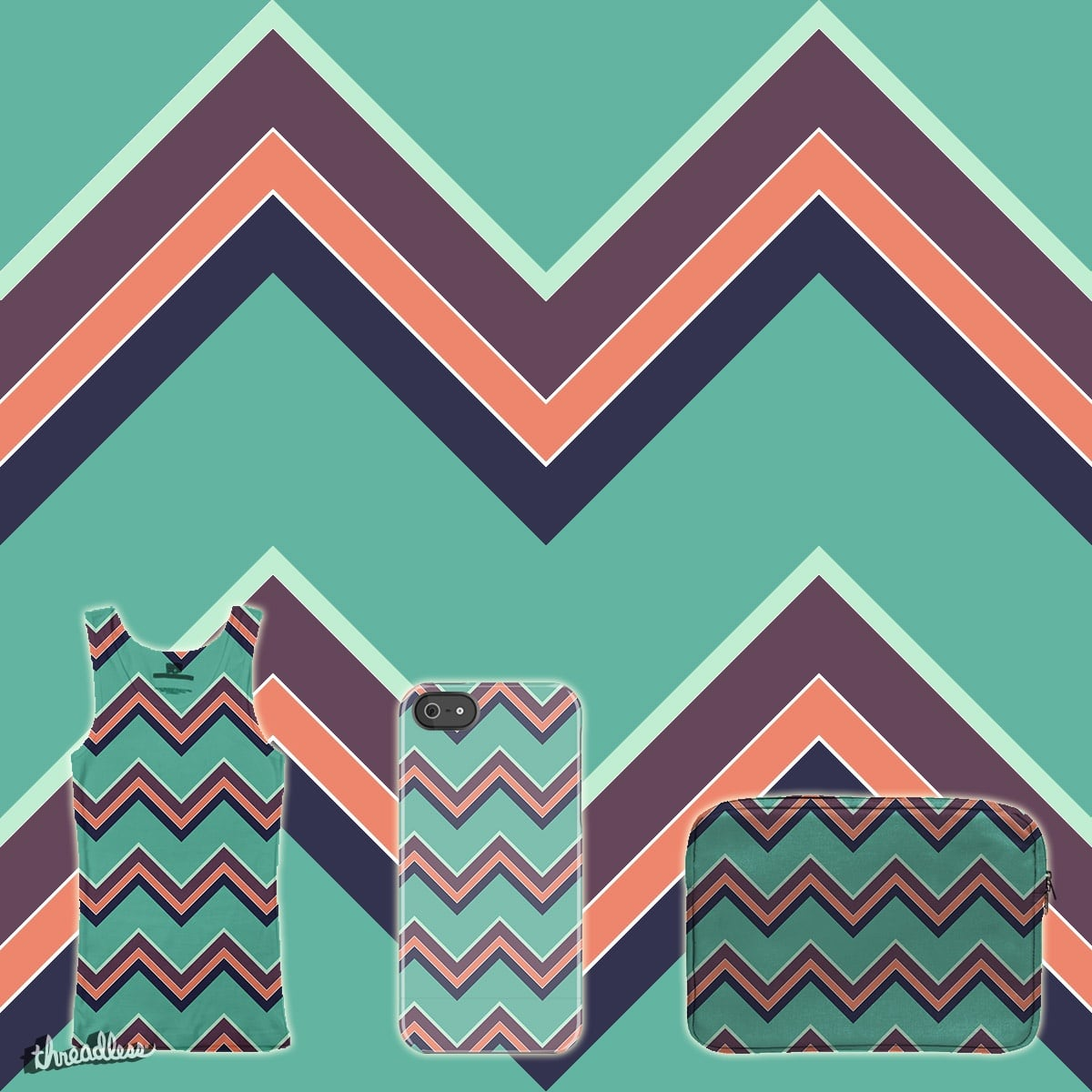 Colorful Chevron by AbbeyRow on Threadless