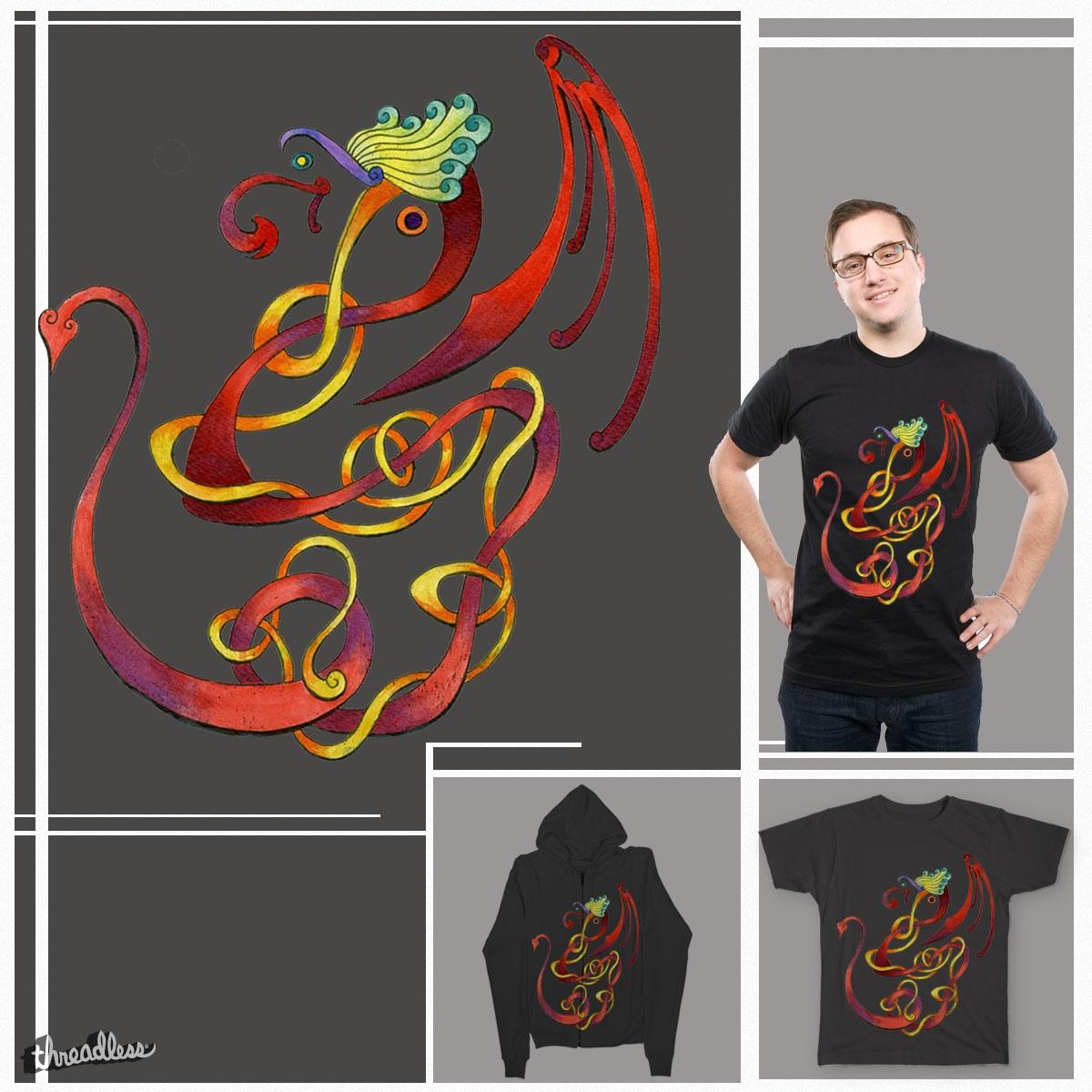 Dancing Dragon by SarinneG on Threadless