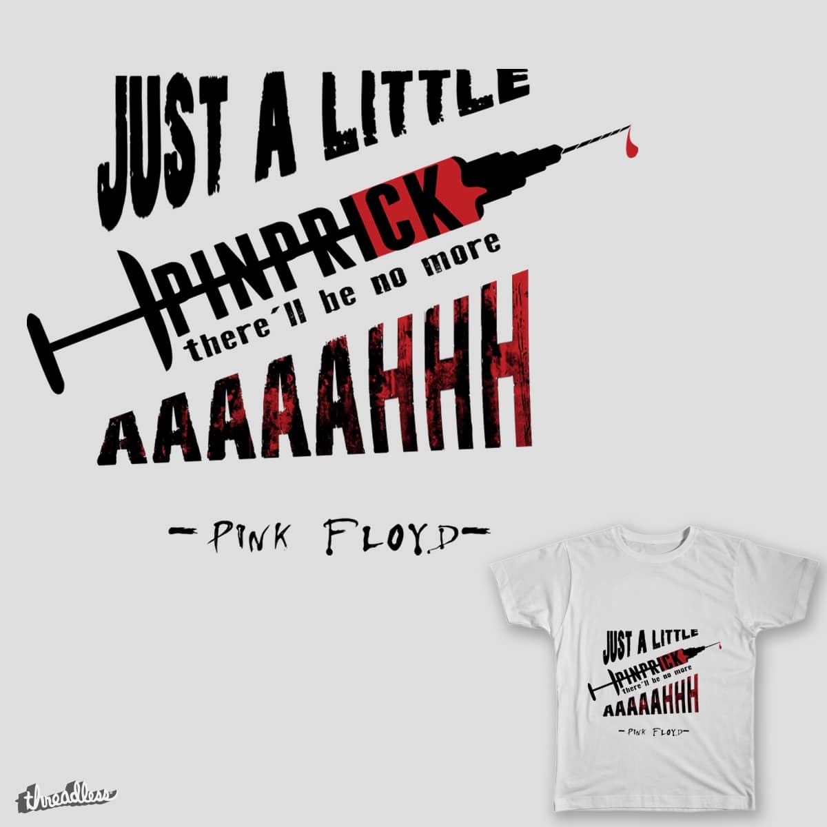 Just a little pinprick by Graphinks on Threadless