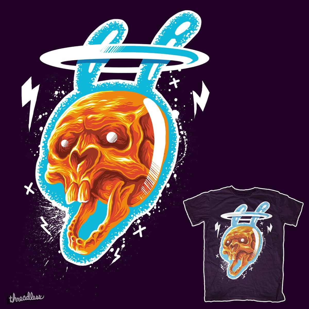Bunny Electric by squadcore on Threadless