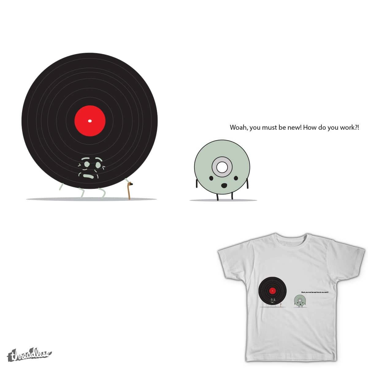 Records are the new CD's by LuvianoDesigns on Threadless