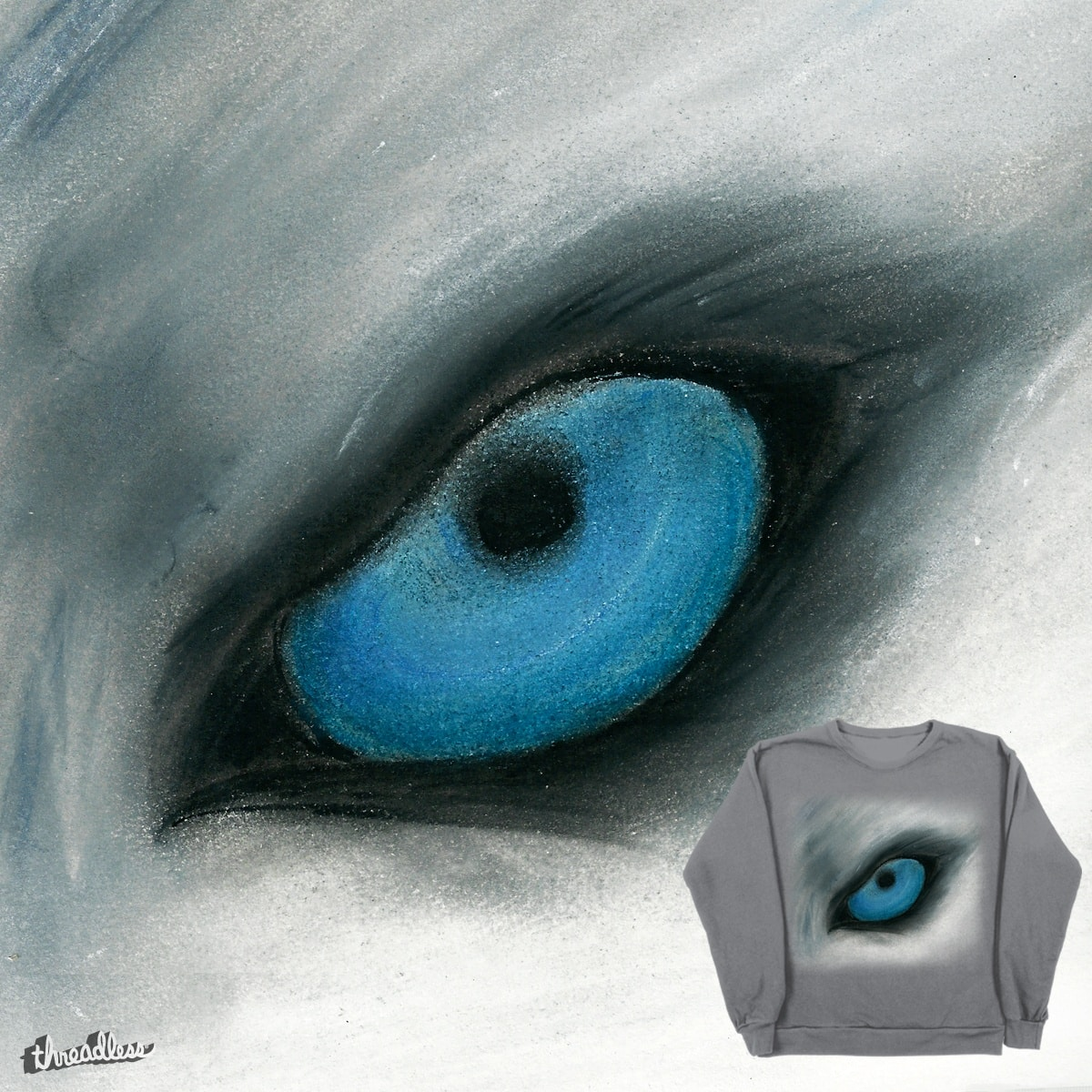blue husky eye by lune123 on Threadless