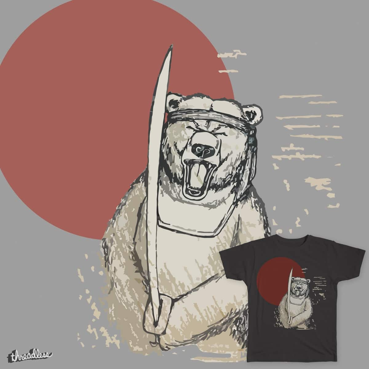 Ninja Bear! by caseyk33 on Threadless