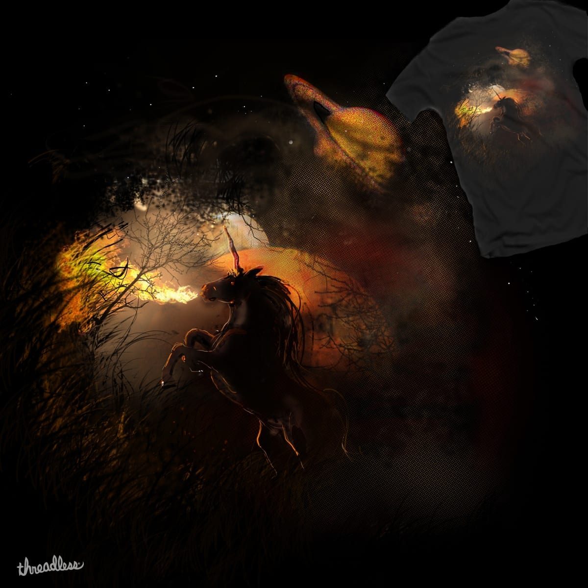 Unicorn of Fire by johnnyspeter on Threadless