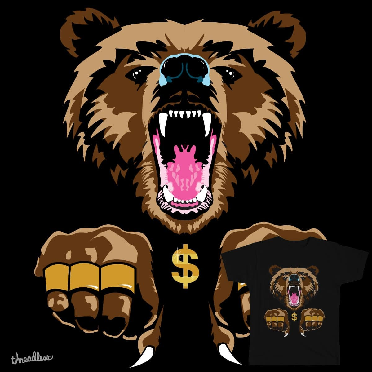Bear Thug by ChantelRoseSmith on Threadless