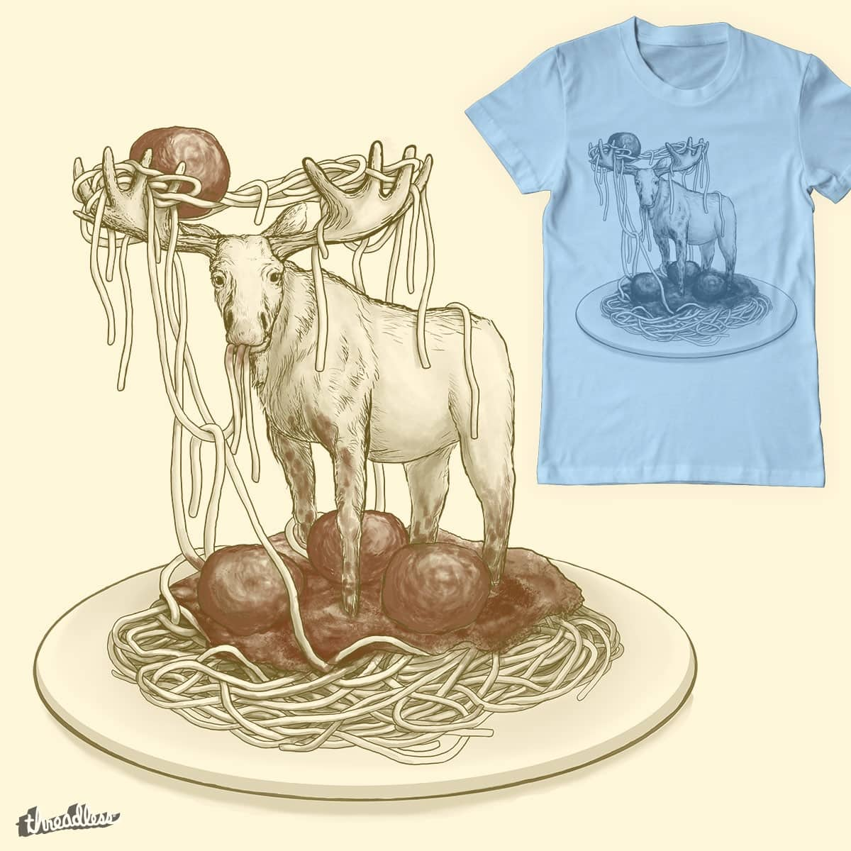 Spaghetti Moose  by Pyne on Threadless