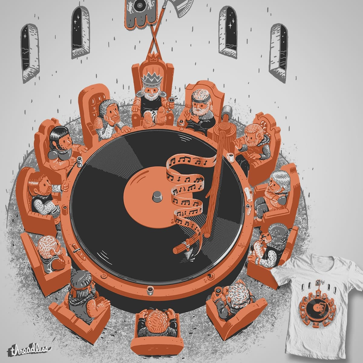 The Knights Of The Round Turntable v3! by c-royal on Threadless
