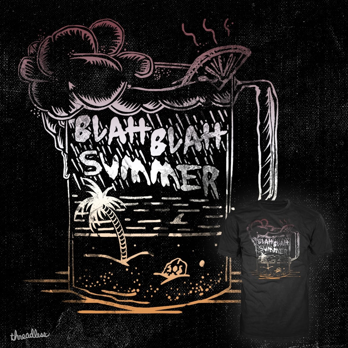 BLAH BLAH SUMMER by jhighfill on Threadless