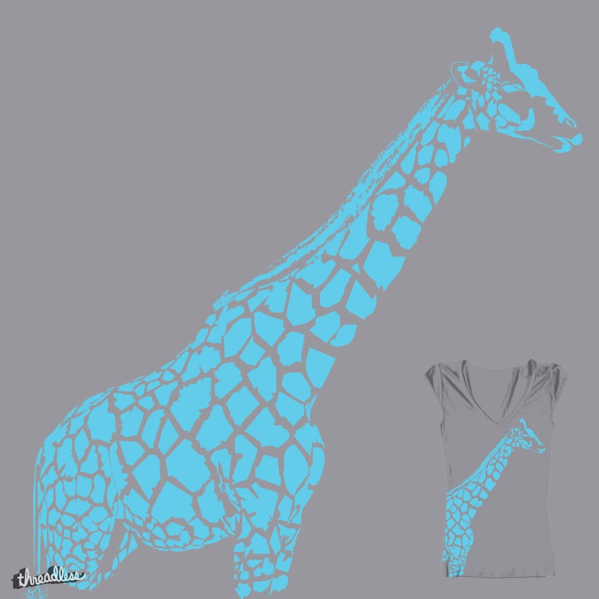 Positive Space Giraffe by meefourfive on Threadless