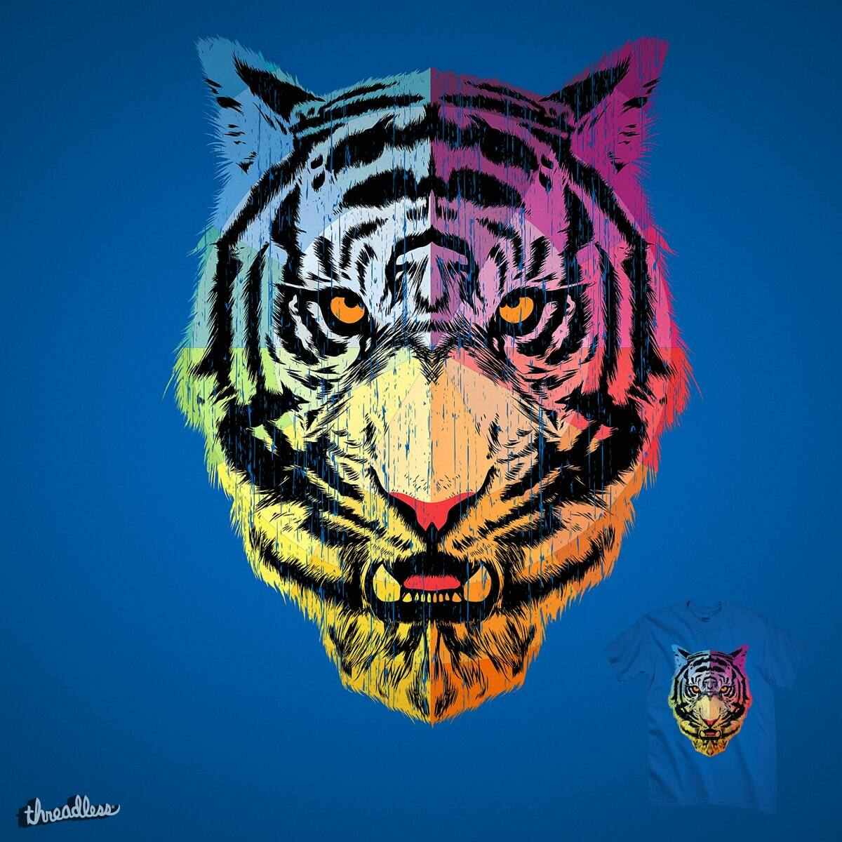 Color Tiger By Kooky Love On Threadless