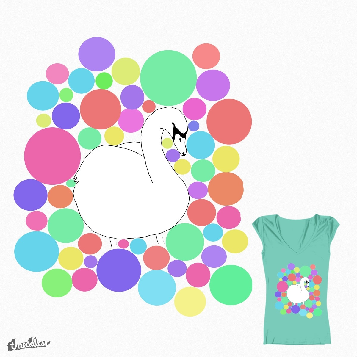 Spotty Swan by IzzyTonkin on Threadless