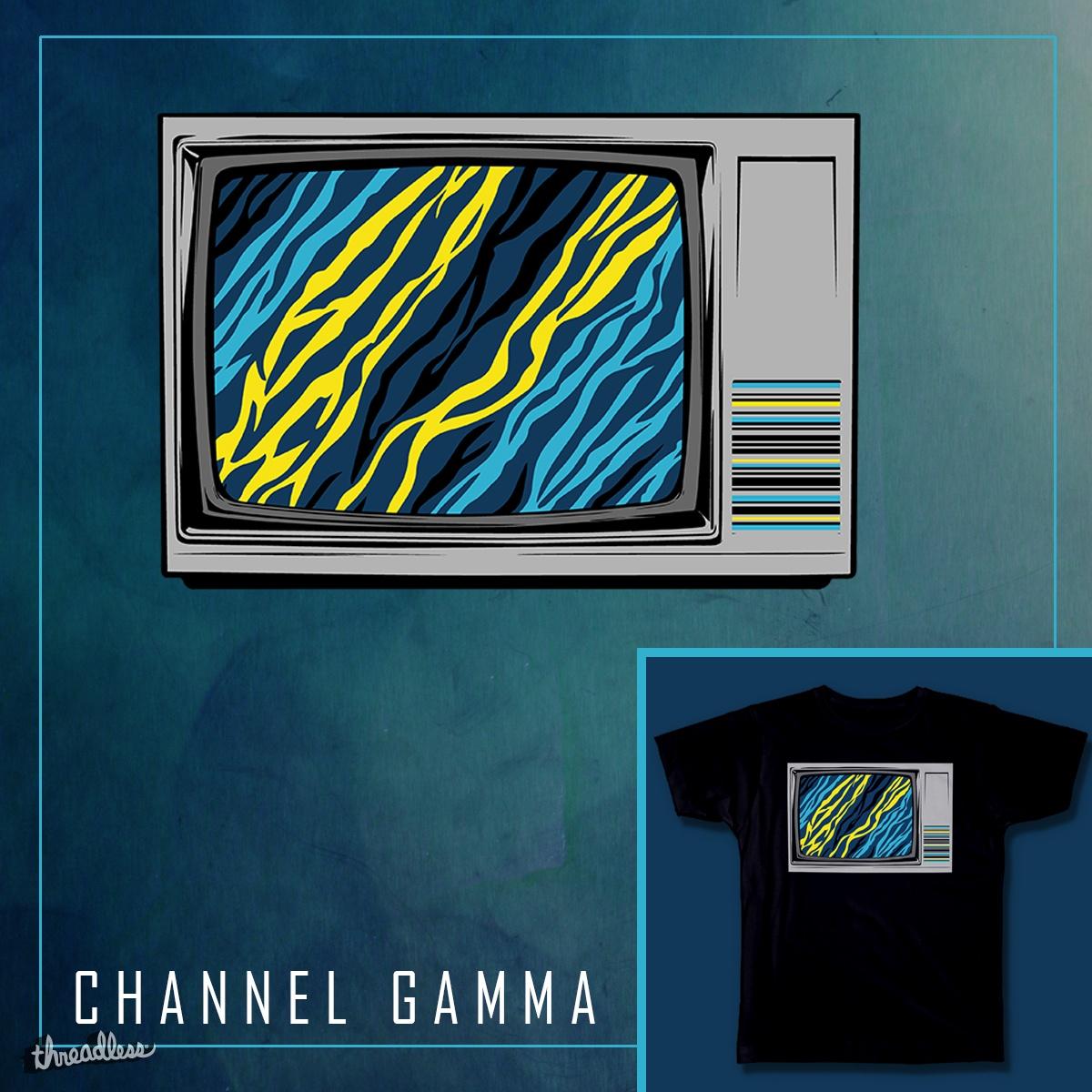 Channel Gamma by nxtgfx on Threadless