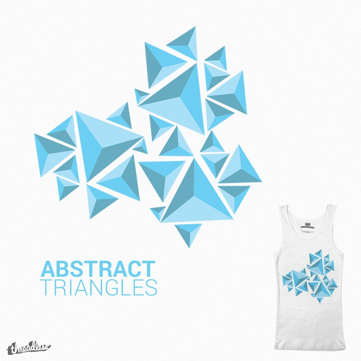 Abstract Triangles by BroPro on Threadless