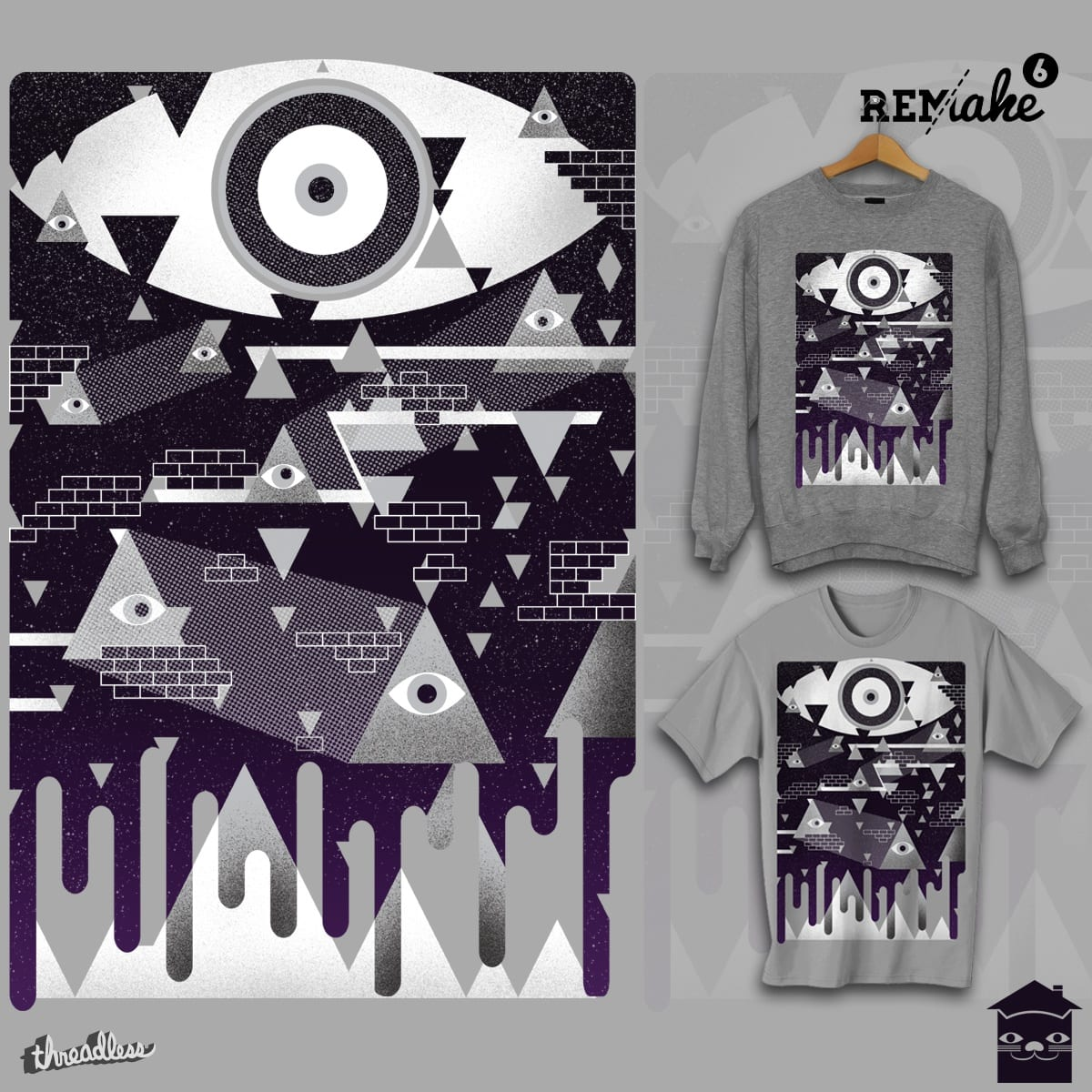Visions in the Night Sky by JIMDAHOUSECAT and EZFL on Threadless