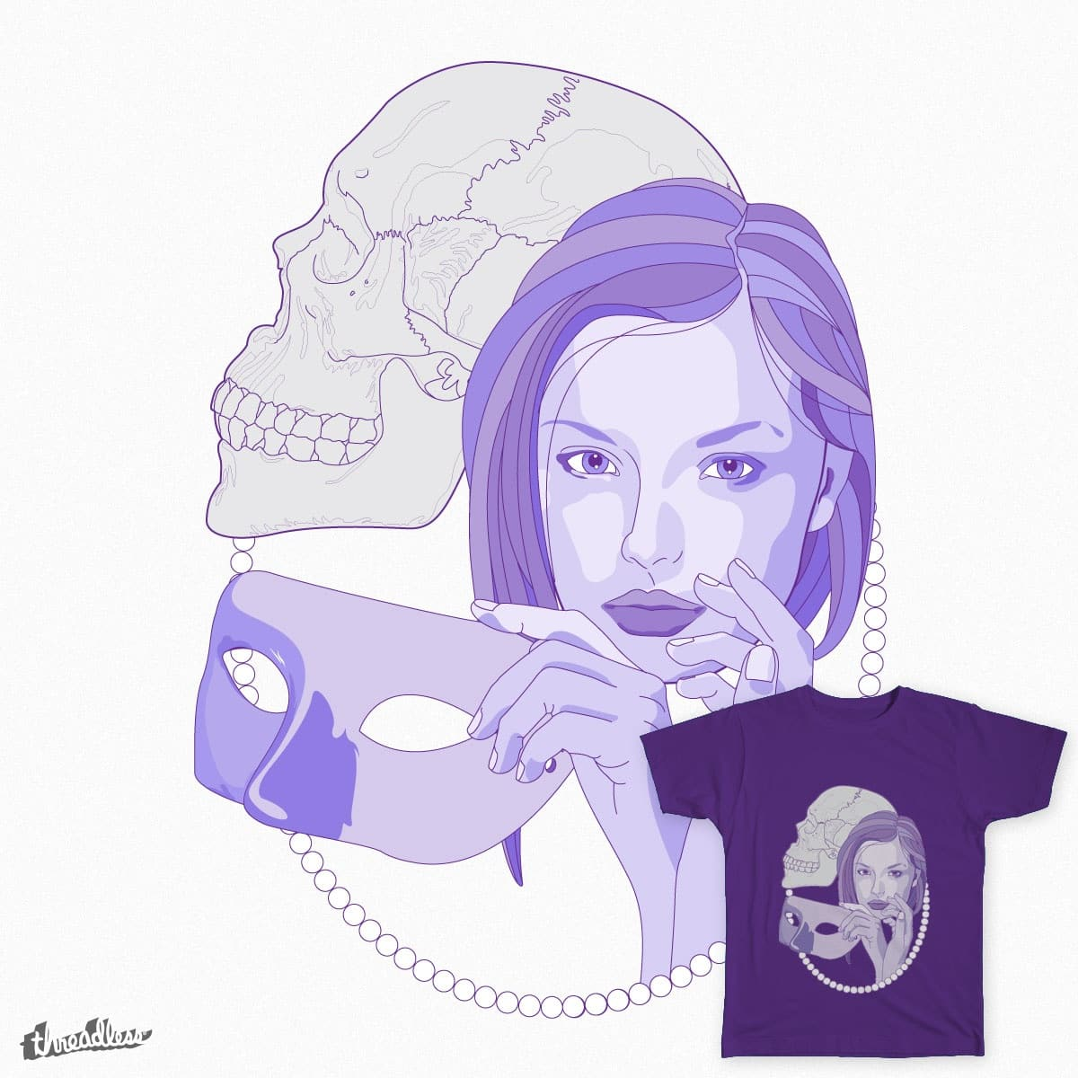 Beautiful Death Unmasked by VarieTeez on Threadless