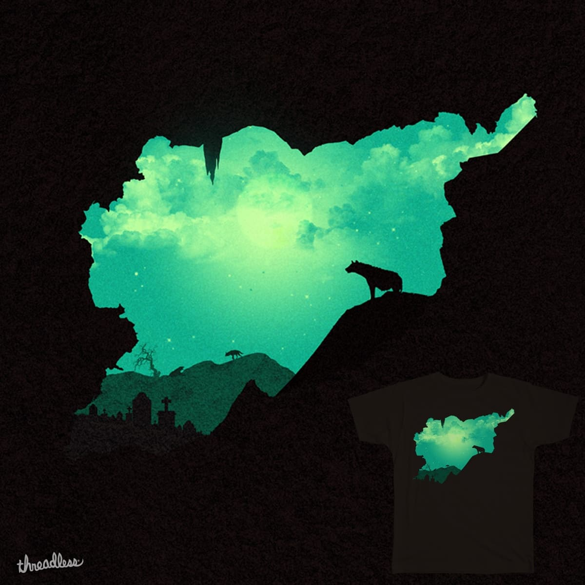 Kingdom of Hyenas  by sedki.alimam on Threadless