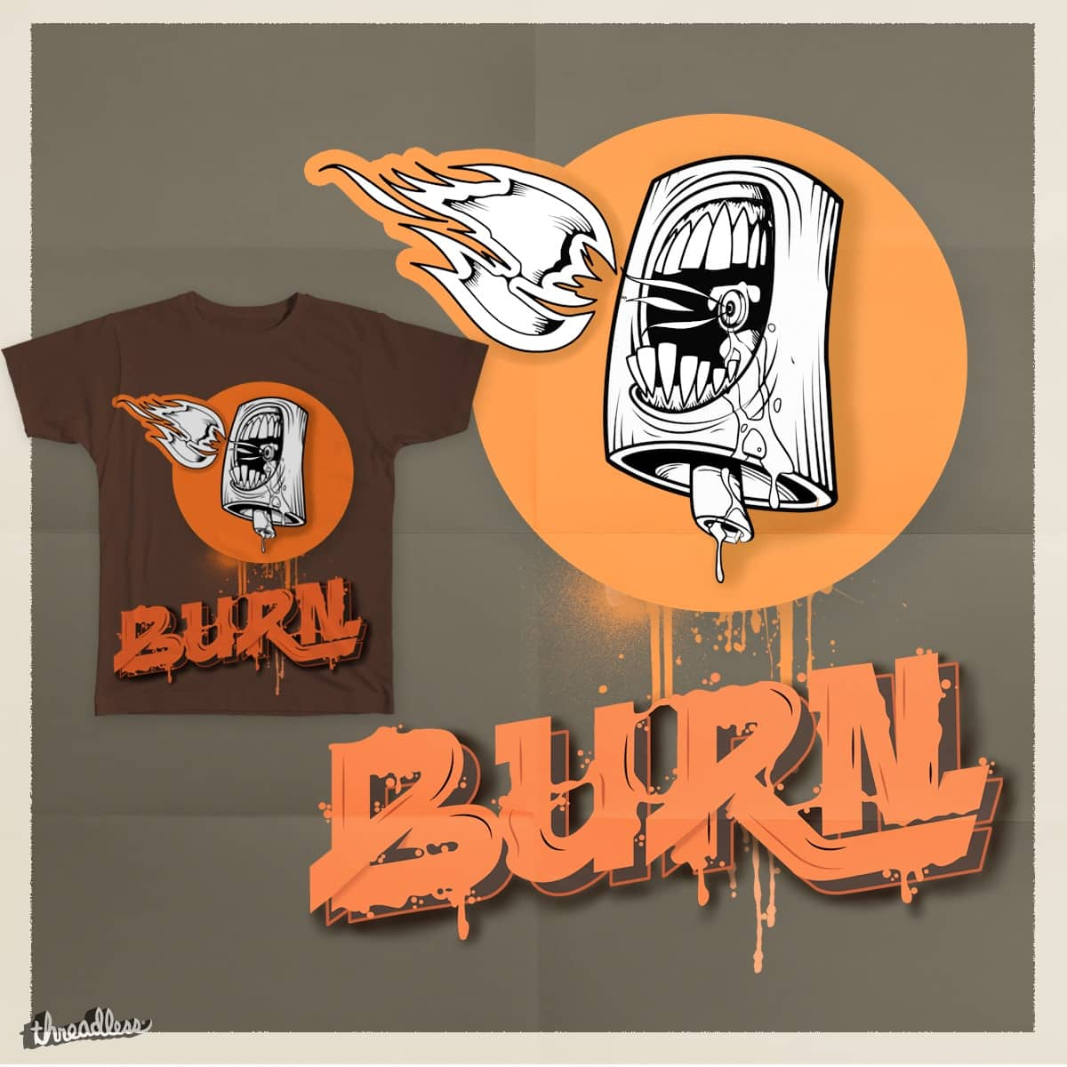 Burn by ergunuzun on Threadless