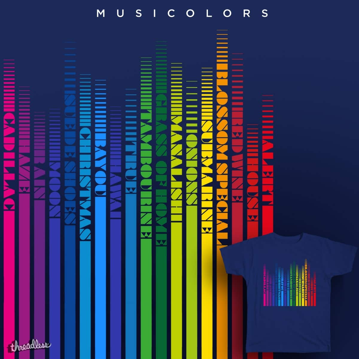 MUSICOLORS by selfish presley on Threadless