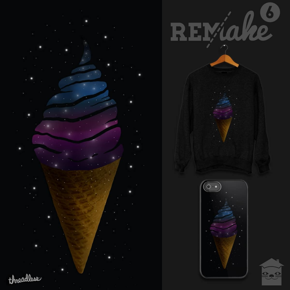 Astro Cream by JIMDAHOUSECAT and EZFL on Threadless